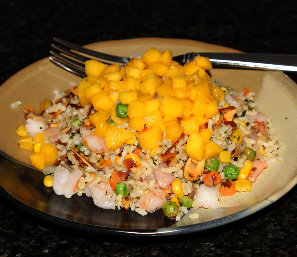 shrimp mango rice salad